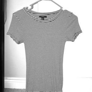 Black and white striped dress shirt